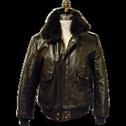 Vintage USA Men's Jacket SZ 40 WILLIAM BARRY Leather FLIGHT Motorcycle Bomber BIKER