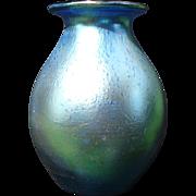 LOETZ Art Glass Cobalt Blue Iridescent Vase Décor Silberiris