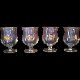Set/ 4 BAILEYS Irish Cream Glasses Cups