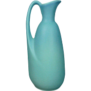 "Van Briggle Ewer 9"" Vase in Matt Blue Glaze - Red Tag Sale Item"