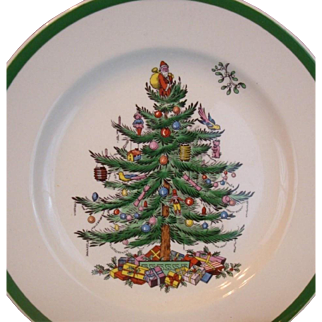 Set of 8  Copeland Spode Christmas Tree Salad Plates England