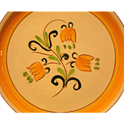 SALAD PLATE by Stangl in the (NOT Terra Rose*) Yellow Tulip pattern