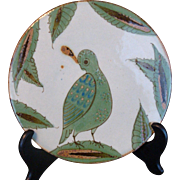 El Palomar TRIVET Stylized QUAIL Bird Signed KEN EDWARDS Tonala Mexico Stoneware
