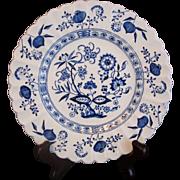 "2 Salad Desert Plates 7"" Meakin Nordic (Blue Onion)"