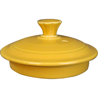 """Vintage Fiesta LID ONLY 4"""" for Large Teapot Original Yellow Glaze"""