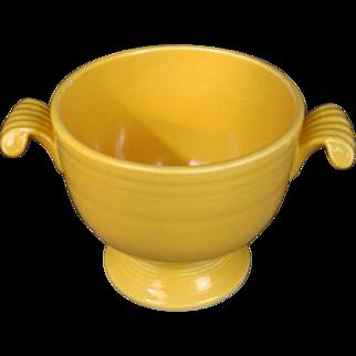 Vintage Fiesta Sugar Bowl NO LID Original Yellow Glaze UNMARKED