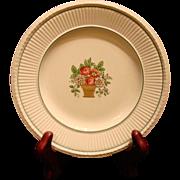 Wedgwood Etruria BREAD & BUTTER PLATE Belmar Pattern Creamware Flower Basket US Patent 1917