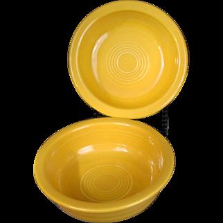 """(1) One Vintage Fiesta 5 1/2"""" Fruit Bowl in Original Yellow Circa 1949-1969"""