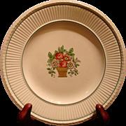 Wedgwood Etruria DINNER PLATE Belmar Pattern Creamware Flower Basket US Patent 1917