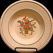 Wedgwood Etruria SOUP PLATE Belmar Pattern Creamware Flower Basket US Patent 1917