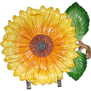 Sunflower American Majolica by Fitz & Floyd Plate Retired SPRING FLOWERS