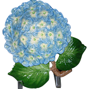 Hydrangea American Majolica by Fitz & Floyd Plate Retired SPRING FLOWERS