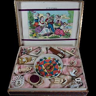 "Wonderful antique French Lottery game for children loterie "" Au Paradis des enfants """