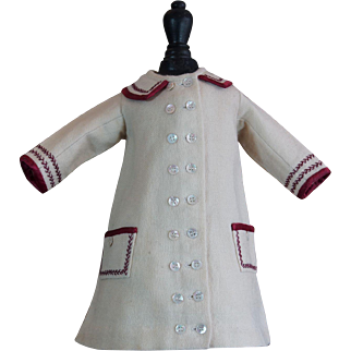 Gorgeous & Antique dress for French BEBE Jumeau , Steiner , Gaultier ...