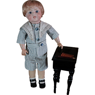 Rare and cute little French character Boy Toto Lanternier Limoges.