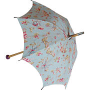 Adorable and unusual Antique umbrella for bebe Jumeau.