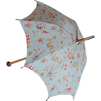 Adorable and unusual Antique umbrella for bebe Jumeau.