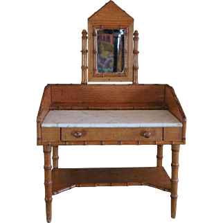 Pretty Bamboo style French Toilette Table for Doll Size 7-8.