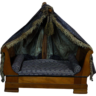 Adorable small French Canopy Bed for Early Doll