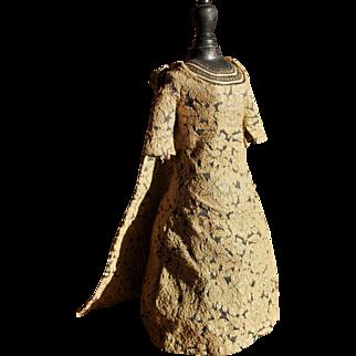 Vintage bru dress made by a fashion dress maker