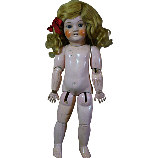 Cute SFBJ Doll composition head Jumeau body Size 6.