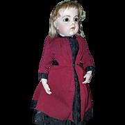 Antique French dress wear by a bebe Bru size 6.
