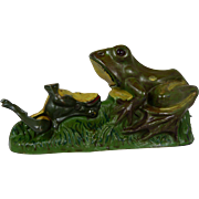 The Two Frogs Bank was manufactured by the J. & E. Stevens Company