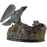 Eagle and Eaglets Mechanical Bank by J. E. Stevens