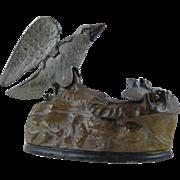 Eagle and Eaglets Mechanical Bank by J. E. Stevens
