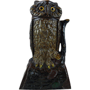 Owl Turns Head Mechanical Bank made by the J. & E. Stevens Co.