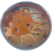 Dexterity Puzzles with Woman in bathing suit and beach umbrella