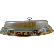 Marx Lithographed Subway Express Tin Toy with Original Box
