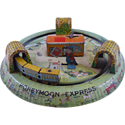 Marx Lithographed Honeymoon Express Tin Toy with Original Box