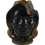 Two Faced Black Boy Cast Iron Still Bank Large size  Manufactured by A. C. Williams