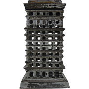 High Rise Cast Iron Bank smallest manufactured by Kenton