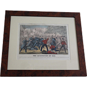 "Currier & Ives  ""The Lexington of 1861"" bright hand colored lithograph; Civil War period"