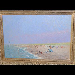 Niek Van Der Plas, Dutch, born 1954, beautiful beach painting