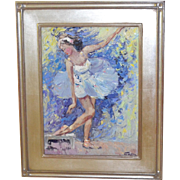 NIek Van Der Plas (born 1954) renowned Dutch artist Ballerina painting
