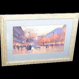 Paul Renard (1941-1997) French, Paris Scene gouache