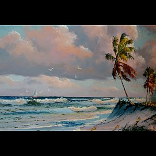 Sam Newton (born 1948), USA, Stunning Florida Highwayman painting