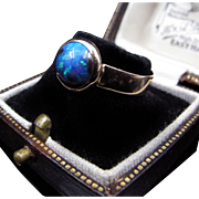 *Inner Mysteries* Victorian c.1880 Antique Opal 14K Gold Ring