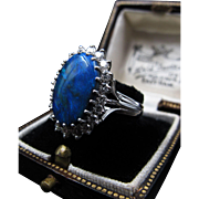 *Heart of the Sea* Retro Vintage Opal Ring in 14k White Gold