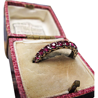 *Timeless Passion* Art Deco Ruby Eternity Band in 18K Gold