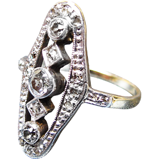 *Everlasting Beauty* Victorian French Diamond Gold Ring c.1890 0.65ctw