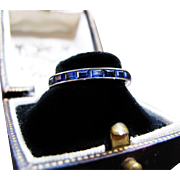 *Eternal Sea* Sapphire Eternity Band in Platinum -- Simply Stunning