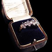 *Platinum Constellation* Art Deco Diamond & Platinum Ring