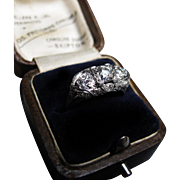 *Ethereal Arrangement* Art Deco Diamond & Platinum Filigree Ring