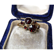 """Blood Roses"" Victorian Garnet Ring (size 6)"