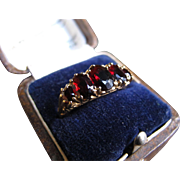 *Blood Princess* Victorian Garnet 14k Gold Ring (size 8.25)
