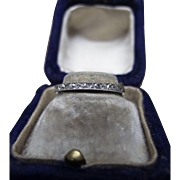 *Star Relay* Art Deco Diamond & Platinum Eternity Band with Milgrain Detailing c.1918